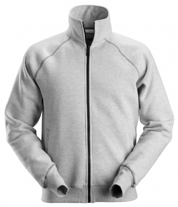 Snickers 2886 AllroundWork Full Zip Sweatshirt Jacket (Grey Melange)